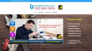 Experienced Solihull Plumber - No Call Out charges - Local & Reliable