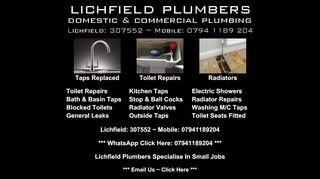 Lichfield-Plumbers