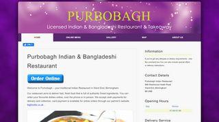 Purbobagh Indian Restaurant Ltd